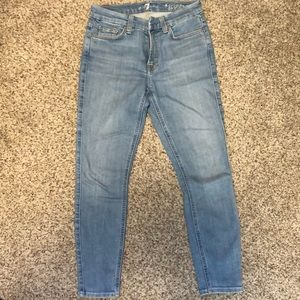 NWOT cropped skinny 7 for all mankind jeans